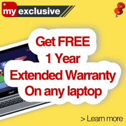MySmartPrice Exclusive: Get FREE 1 year Extended Warranty on any laptop!